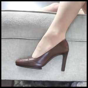 DKNY Jeans Brown Leather Heels *PLEASE READ*